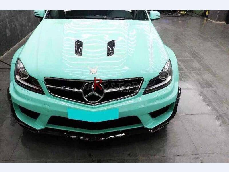 2011+ W204 C-CLASS C63 AMG 2D/4D BLACK SERIES FRONT BUMPER WITH CANARD